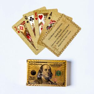 Deck of Cards 99.9% pure 24K Gold Foil